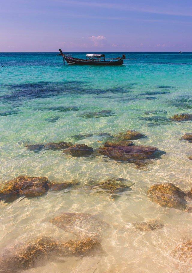 Boot am Sanom Beach auf Koh Lipe