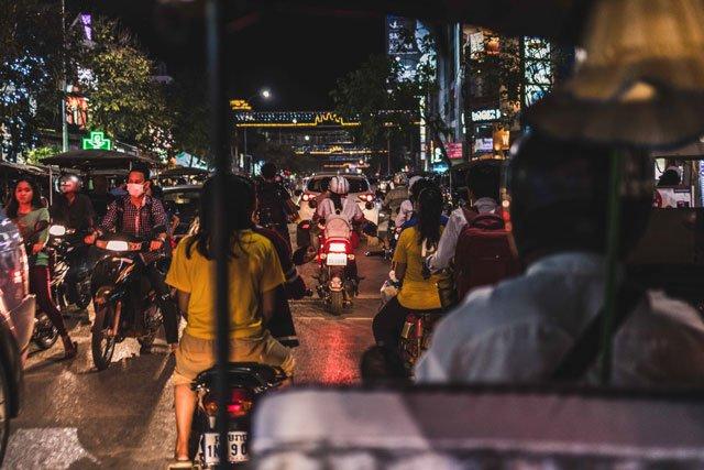 Nachts durch Siem Reap mit dem Tuktuk