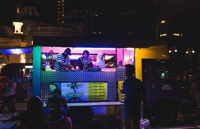 Streetfood Stand in Kuala Lumpur