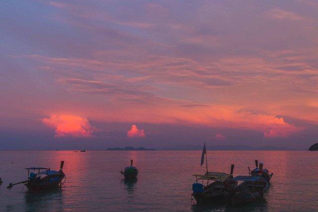 Sonnenuntergang am Sunrise Beach auf Ko Lipe