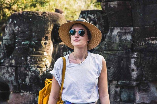 Porträt in Tempel bei Siem Reap