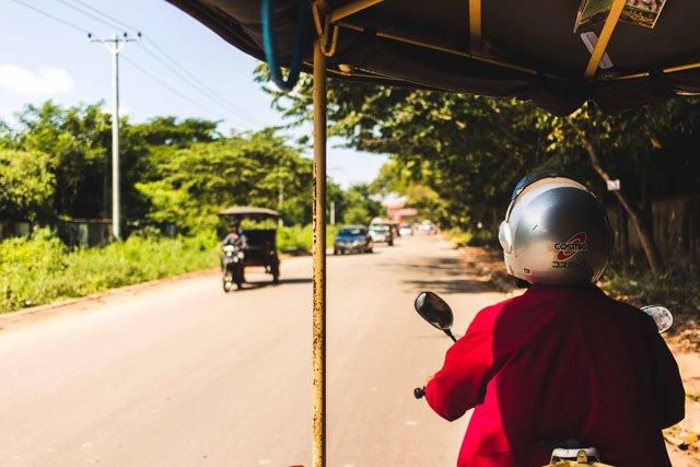 Tuktukfahrer in Kambodscha