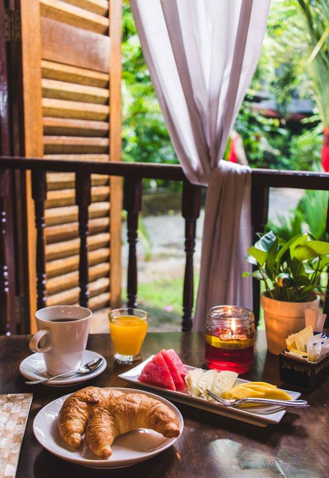Frühstück in der Villa Molek auf Langkawi
