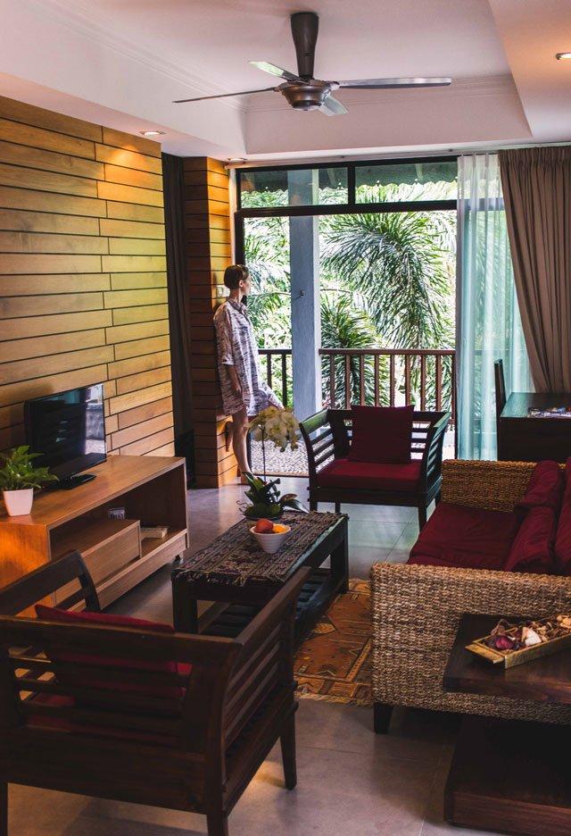 Wohnzimmer in der Villa Molek auf Langkawi