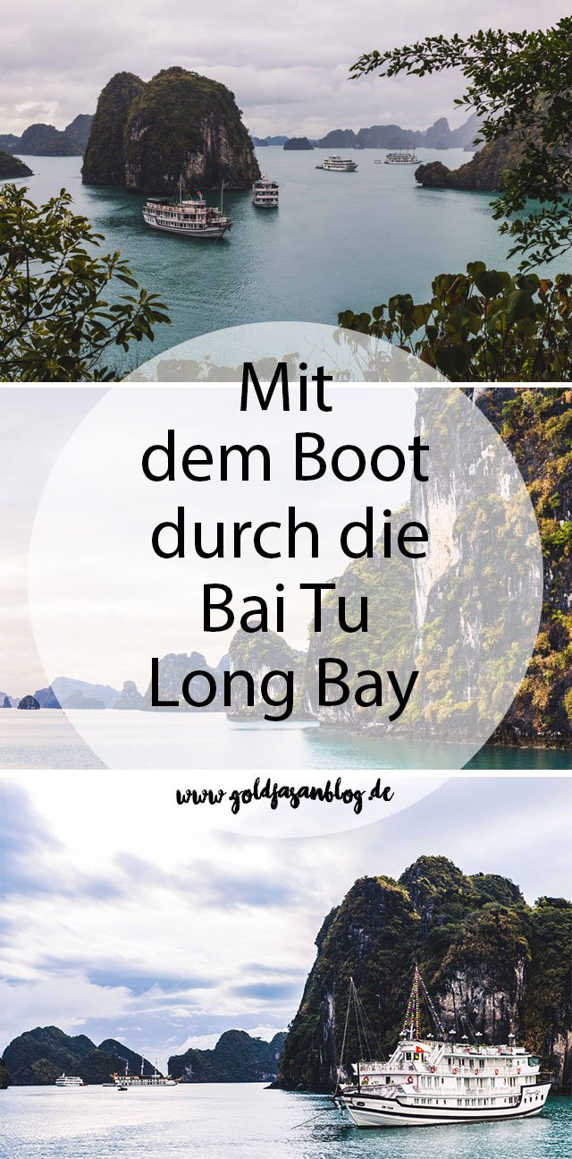 Collage mit Bildern aus der Bai Tu Long Bay in Vietnam