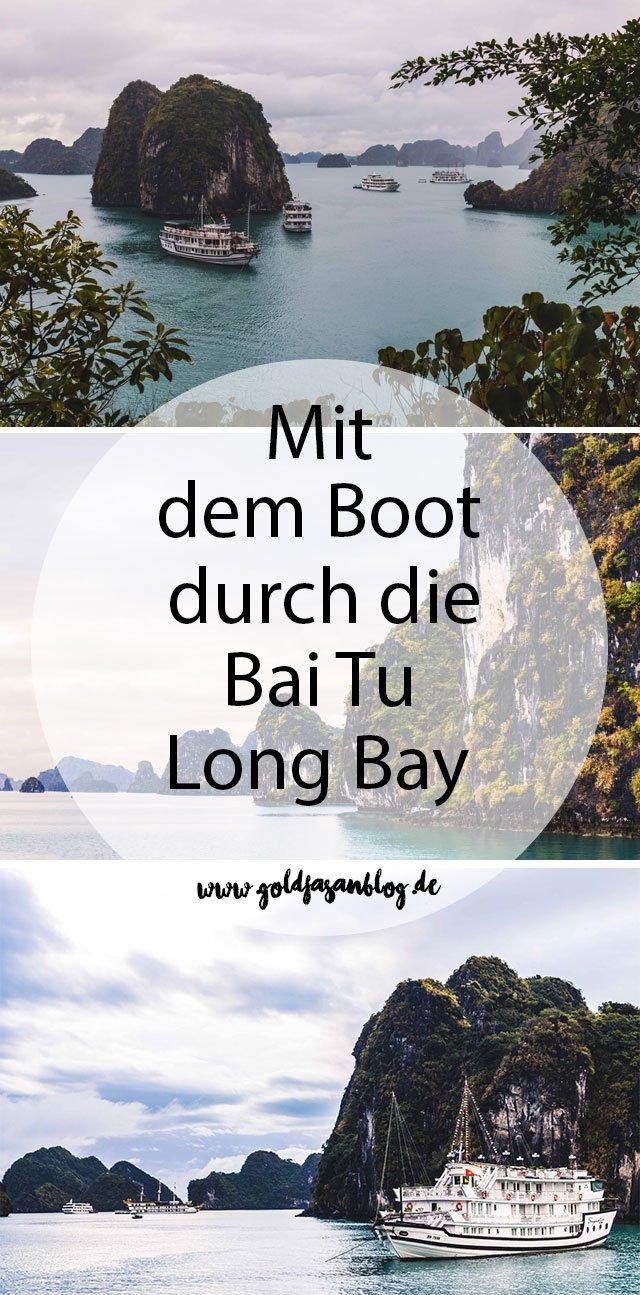 Collage mit Bildern aus der Bai Tu Long Bay in Vietnam