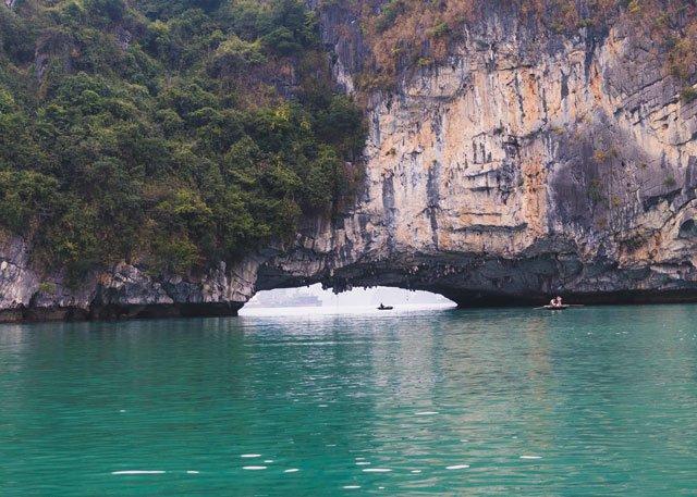 Fischer in der Bay Tu Long Bay