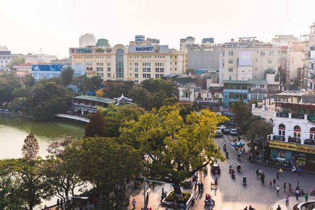 Ausblick auf die Altstadt von Hanoi