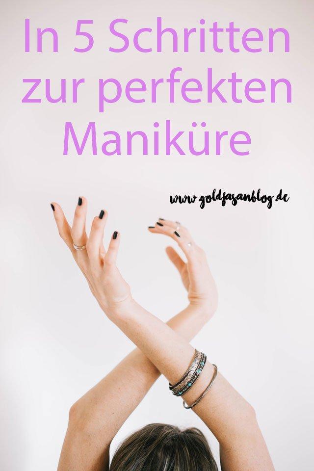 Collage mit manikürten Händen