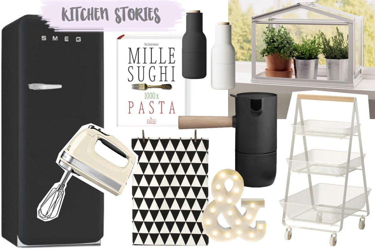 Interior Produkte für die Küche in Schwarz und Weiß