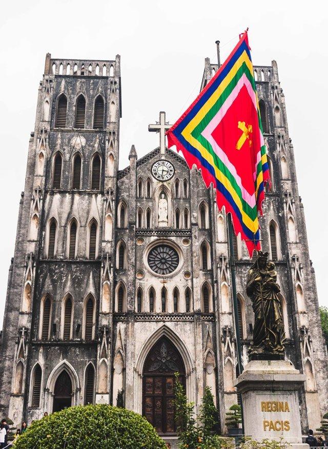 St Josephs Kathedrale in der Altstadt von Hanoi
