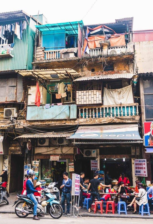 Streetfood in der Altstadt von Hanoi