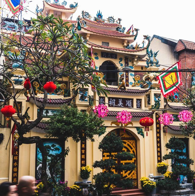 Tempel in der Altstadt von Hanoi