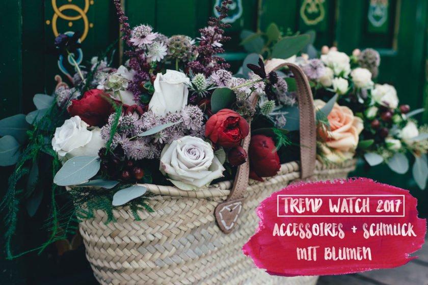 Blumen im Korb - Accessoires und Schmuck Trend 2017