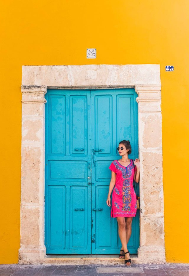 Pinkes Kleid im Boho Stil