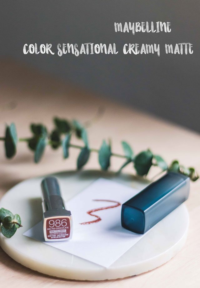 Color Sensational Creamy Matte in der Farbe Melted Chocolate von Maybelline