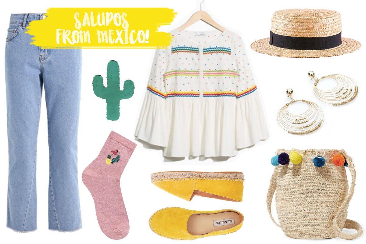Outfit Inspiration mit boho mexikanisch inspirierten Teilen