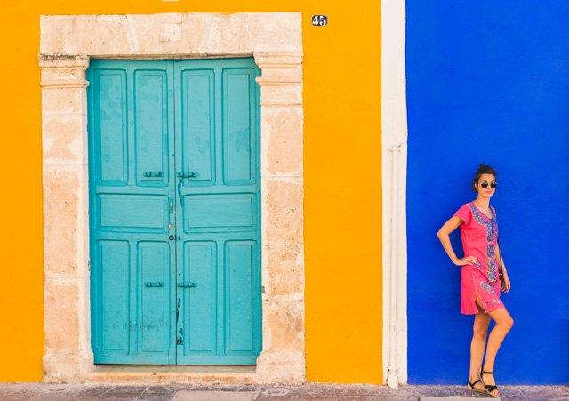 Outfit mit Sommerkleid im Boho Stil aus Mexiko