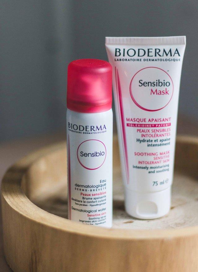 Gesichtsmaske und Spray von Bioderma Sensibio