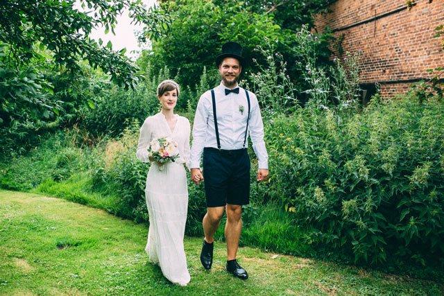 Brautpaar im Vintage-Stil in Brandenburg