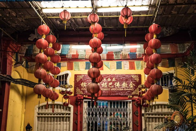 Hauseingang in Chinatown in George Town auf Penang