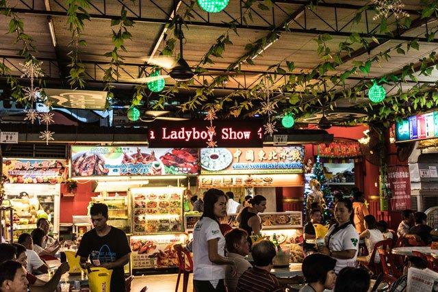 Food Market in George Town auf Penang