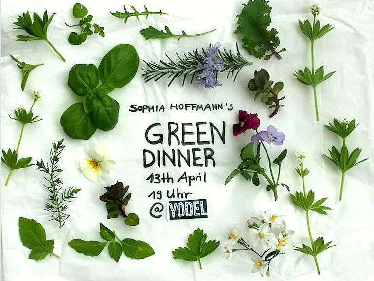 Flyer für grünes Dinner an Ostern in Berlin