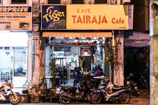 Café in Little India in George Town auf Penang
