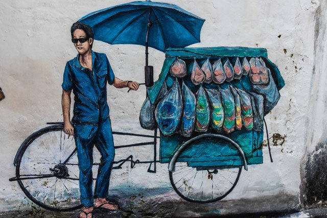 Street Art mit Street Food in George Town auf Penang