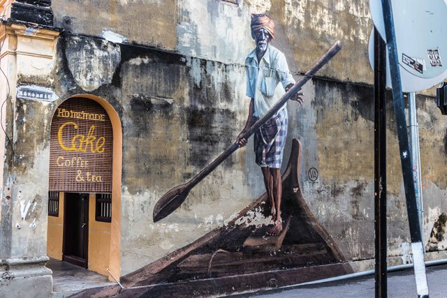 Street Art in George Town auf Penang