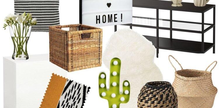 Collage mit Mexiko inspirierten Produkten im Wohnzimmer