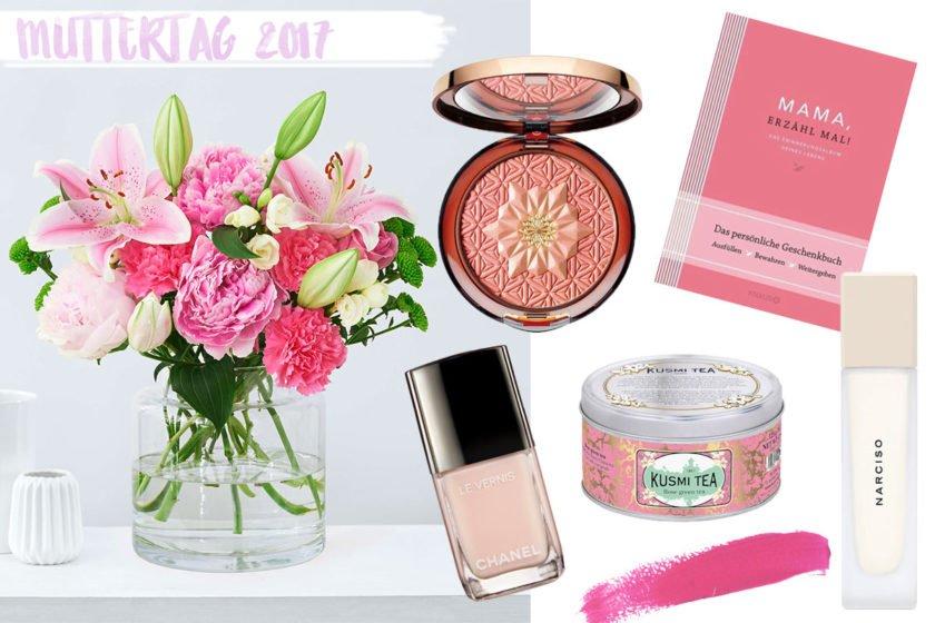 Collage mit Geschenkidee für den Muttertag