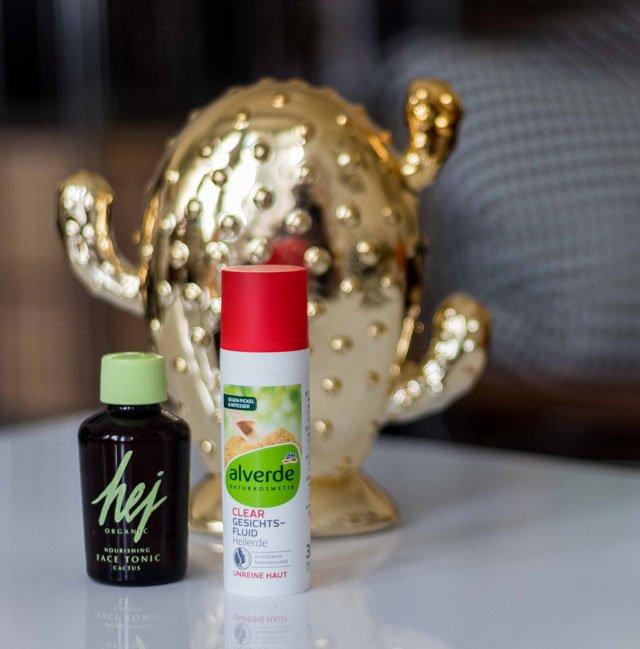 Klärende Hautpflegeprodukte von Hej Organic und Alverde