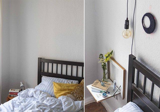 Schlafzimmer im Vorher-Nahher-Vergleich