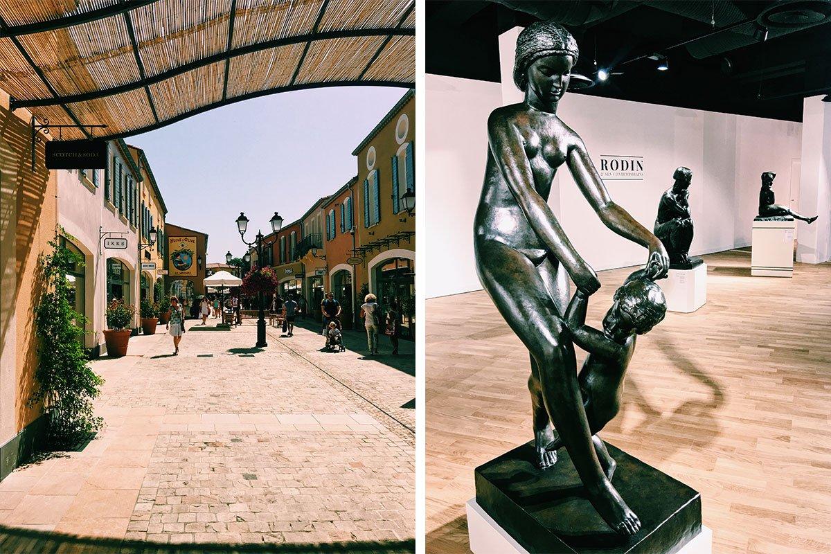 Einkaufszentrum McArthurGlen Provence und Rodin Ausstellung