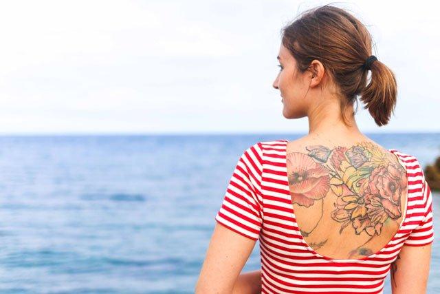 Tattoo auf dem Rücken
