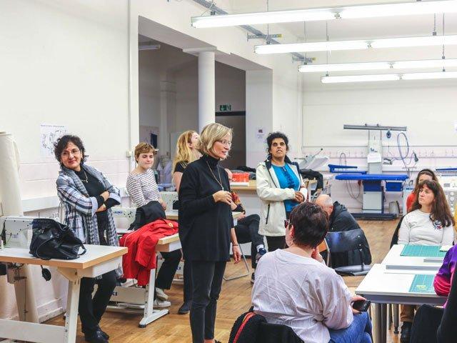 Begrüßung der Teilnehmer durch Katharina Scriba vom Goethe-Institut Paris