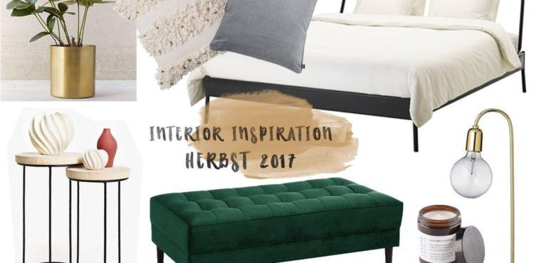 Collage mit Wohntrends für das Schlafzimmer im Herbst 2017