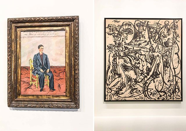 Bilder von Frida Kahlo und Jackson Pollock in der Fondation Louis Vuitton Paris