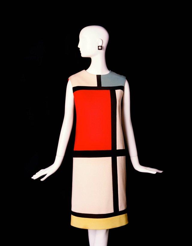 Mondrian Kleid im Musée Yves Saint Laurent