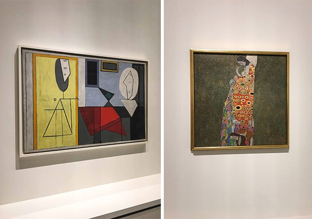 Bilder von Picasso und Klimt in der Fondation Louis Vuitton Paris