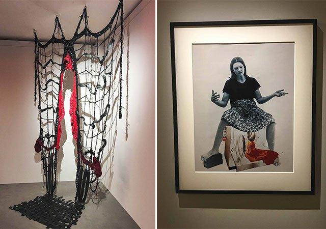 Werke aus der Ausstellung Woman House in Paris