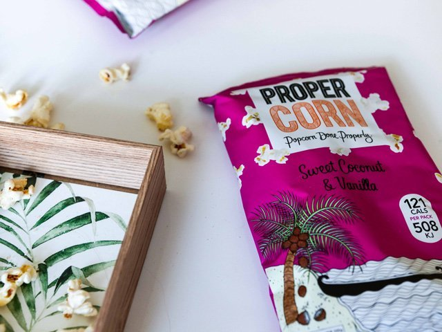 Propercorn Packung Sweet Coconug and Vanilla