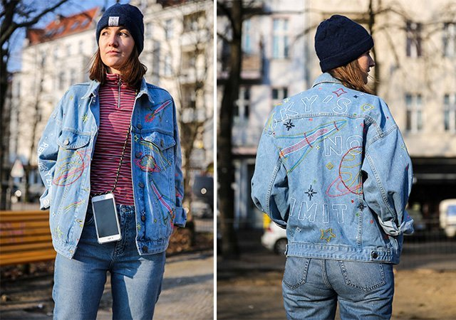 Collage mit Denim on Denim Look
