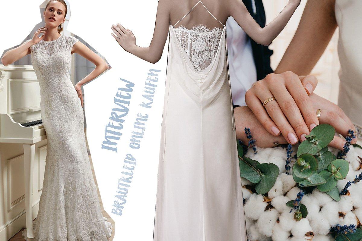 Collage mit Brautkleidern