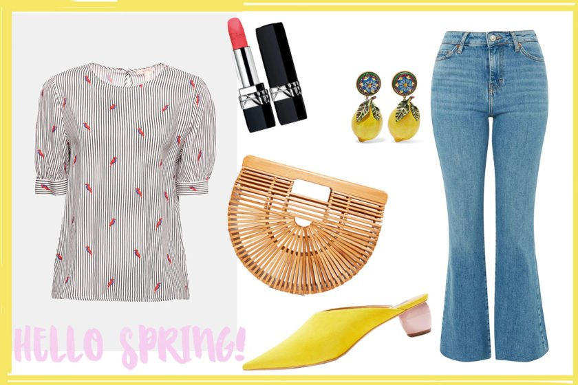 Collage mit Outfit für den Frühling