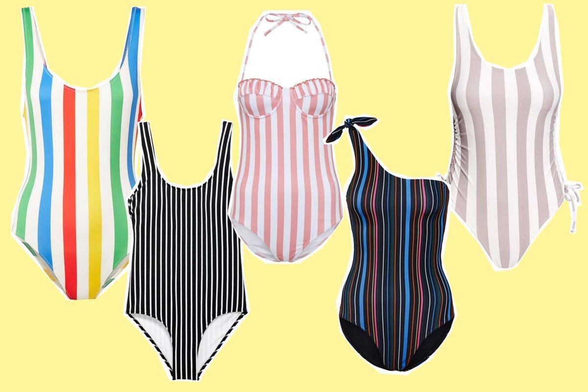 Badeanzüge mit Streifen