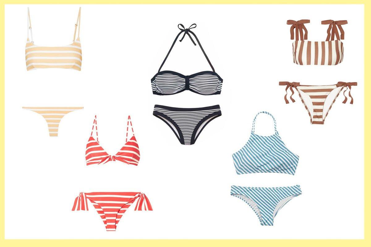 Bikinis mit Streifen
