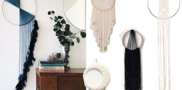 Collage mit minimalistischen Traumfängern
