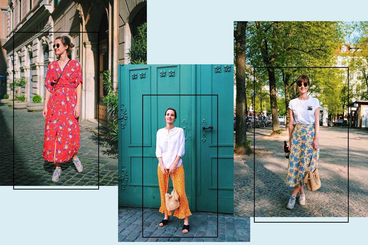 Collage mit Outfits aus dem Alltag